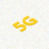 5G symbol of wireless Internet connection . Vector illustration Stock Images