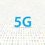 5G symbol of wireless Internet on a digital background . Vector illustration Royalty Free Stock Photography