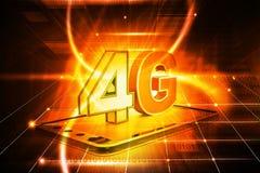 4g tabletpc Stock Afbeelding
