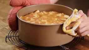G?teau aux pommes Gâteau fait maison avec les ingrédients naturels Concept pour un dessert savoureux clips vidéos