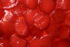 G?teau de gel?e de fraise Fermez-vous vers le haut de la texture images stock