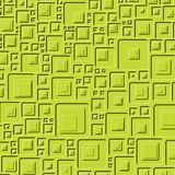 G-TEC. Abstract green background made of embossed squares Stock Images
