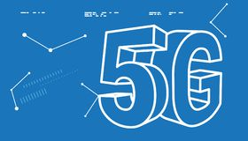 5G Technology Abstract Illustration. As EPS 10 File Royalty Free Stock Image