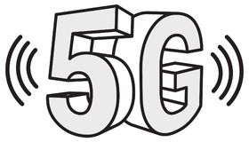 5G Technology Abstract Illustration. As EPS 10 File Royalty Free Stock Images