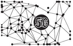 5G Technology Abstract Illustration. As EPS 10 File Stock Image
