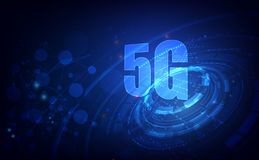 5G technology background. Digital data as digits connected each other and form symbol 5G New generation internet . vector. Illustration eps10 vector illustration