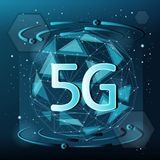 5G technology concept royalty free illustration