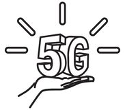 5G Technology Launch Icon. As EPS 10 File Stock Image