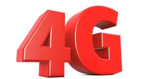4G tekst Royalty-vrije Stock Foto