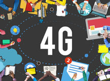 4G Telecommunication Connection Networking Mobility Concept Royalty Free Stock Image