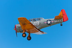 AT-6G Texan With Landing Gear Down Red Nose Stock Photos