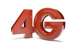 4g text. Render of the text 4g stock illustration