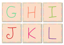 G to L alphabets, vector set 2 Stock Image
