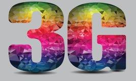 3G trådlös teknologi Logo Colorful Vector Arkivbild