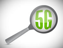 5g under surveillance illustration. Design over a white background Stock Photos