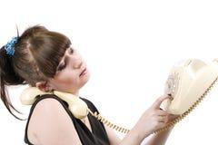 głupi telefon gospodyni domowa Zdjęcie Stock