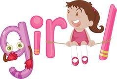 G voor meisje royalty-vrije illustratie