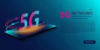 5G wifiverbinding van netwerk nieuwe draadloze Internet Innovatieve generatie van de globale Snelle internetdiensten-breedband Gl royalty-vrije illustratie