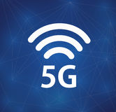 5G wireles conection. World connection. Stock Image