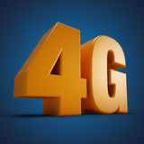 4G. Wireless communication standard 3d illustration on Blue background Royalty Free Stock Photography