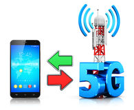 5G wireless communication technology concept Royalty Free Stock Photos
