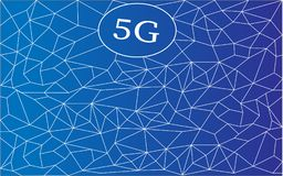 5G Wireless connection. World connection. isolated on blue. New ultra-fast networks with millimeter waves, massive MIMO. 5G Wireless connection. World connection vector illustration