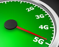 5g. Wireless network speed. 5G high speed internet concept. 3d rendering vector illustration