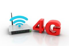 4G and wireless router Royalty Free Stock Image