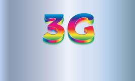 3G wireless technology Vector logo Royalty Free Stock Images