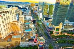 G??wna ulica Las Vegas - jest pasek na widok obrazy stock