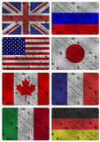 G8 wooden flags Stock Images