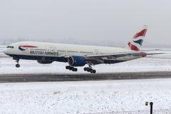 G-YMMF British Airways, Boeing 777-200 Royaltyfri Fotografi