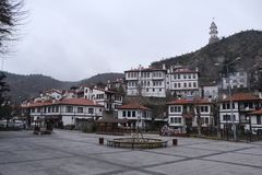 Göynük Bolu Historical Tourism Area And Clock Tower Turkey Royalty Free Stock Photo