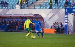 g Zotov (15) contra A Katrich (77) Fotos de Stock Royalty Free