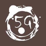 5g związek technologii mobilnych Tło z monohrome pluśnięciami jaskrawa farba Grunge styl Obrazy Stock