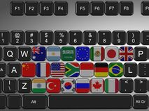 G20 keyboard Stock Photos
