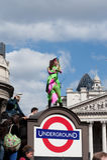 G20 protesto abril 1 2009 Londres Imagem de Stock Royalty Free
