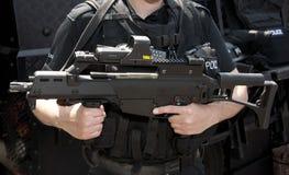 攻击g36 hk步枪拍打 免版税库存图片
