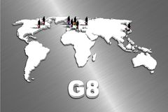 G8 Countries Royalty Free Stock Photos
