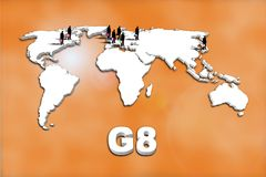 G8 Countries Stock Images