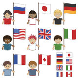 G8 flags Royalty Free Stock Photos