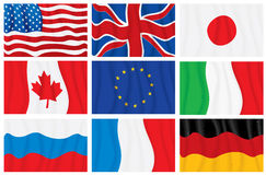 G8 flags royalty free illustration