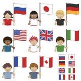 G8 vlaggen Royalty-vrije Stock Foto's
