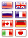 G8 vlaggen Stock Foto