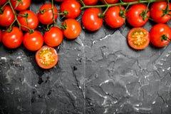 gałęziaści świezi pomidory obrazy stock