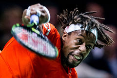 Gaël Monfils Tennis indoor ATP World Tour Royalty Free Stock Images