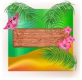 gałąź kwiatów palmowa tekstura drewniana Obraz Royalty Free