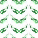Gałąź oliwki, symbol zwycięstwo, wektorowa ilustracja, mieszkanie bezszwowy wzoru ilustracja wektor