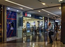 Gałąź UOB bank w Bangkok, Tajlandia fotografia royalty free