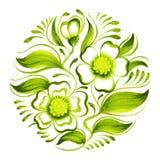 Gałąź zielona herbata z kwiatami i liśćmi Obraz Stock